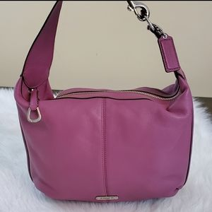 **Coach Avery Rose Pebbled Leather Hobo Bag